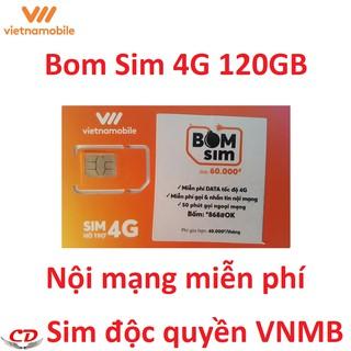[Nhập mã ELPS204 giảm 10%]Bom sim 4G-vietnamobile 150GB+50 phút liên mạng-QC-ps