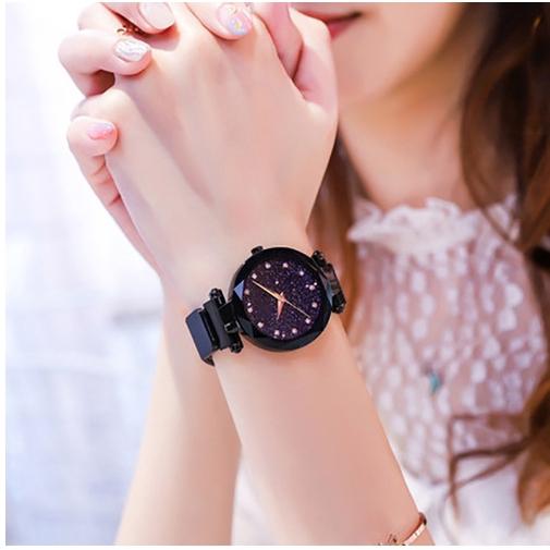 Đồng hồ nữ dây da mặt hình sao