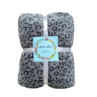 Mền lông cừu Thái BEO XÁM