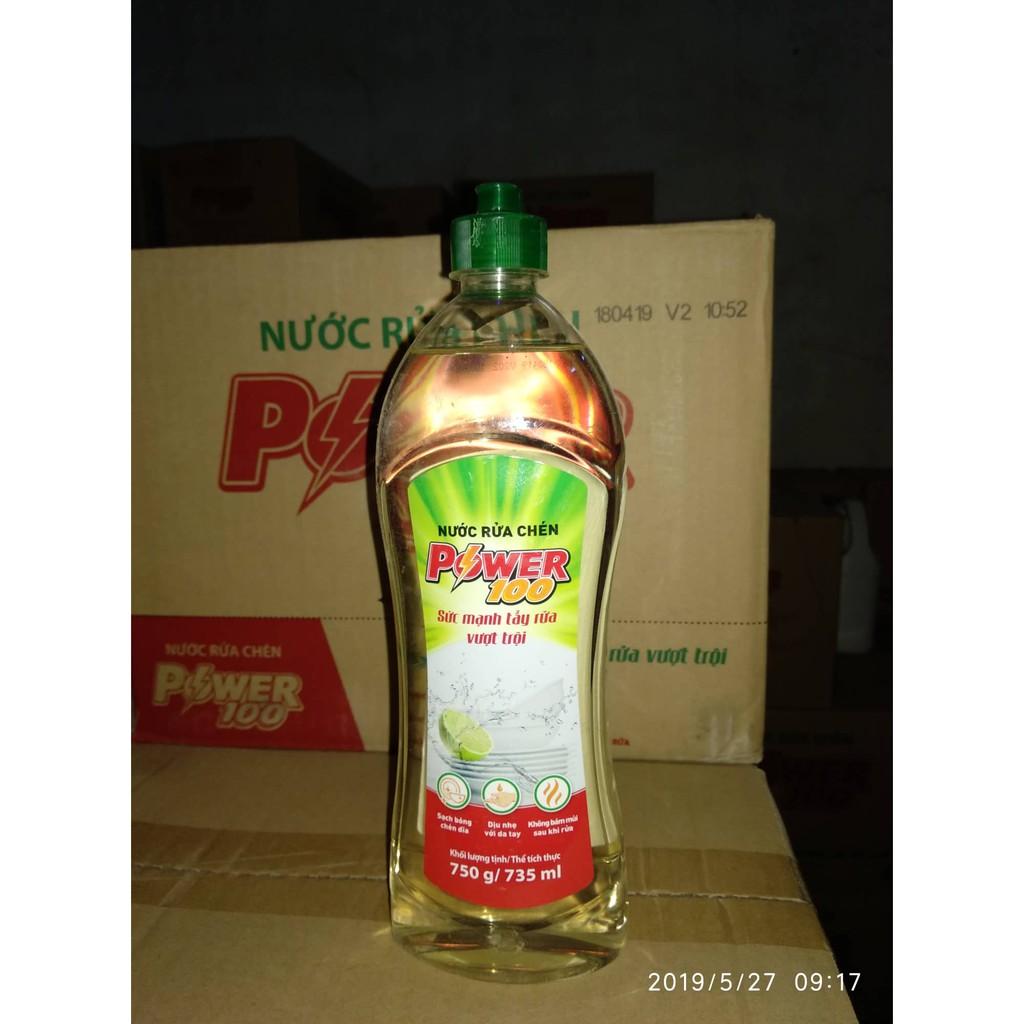 Nước Rửa Chén POWER100 Hương Chanh 750g