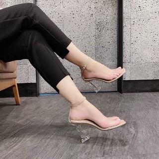 Giày sandal nữ cao gót quai ngang trong gót YSS trong cao 9p sang xịn