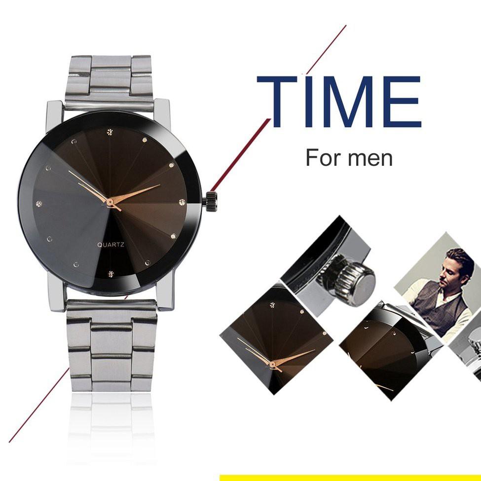 Đồng hồ thạch anh thời trang với dây đeo bằng thép không gỉ cho nam - 15358830 , 1346236735 , 322_1346236735 , 77000 , Dong-ho-thach-anh-thoi-trang-voi-day-deo-bang-thep-khong-gi-cho-nam-322_1346236735 , shopee.vn , Đồng hồ thạch anh thời trang với dây đeo bằng thép không gỉ cho nam