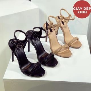 Sỉ cao gót, dép, sandal Sandal gót quai mảnh hậu khoá cắt điệu gót 10p (hàng đẹp) Chuyên Sỉ giày rẻ Giày dép xinh Mys