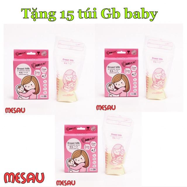 Free ship 150 Túi Sunmum Thái Lan tặng 15 túi Gb baby