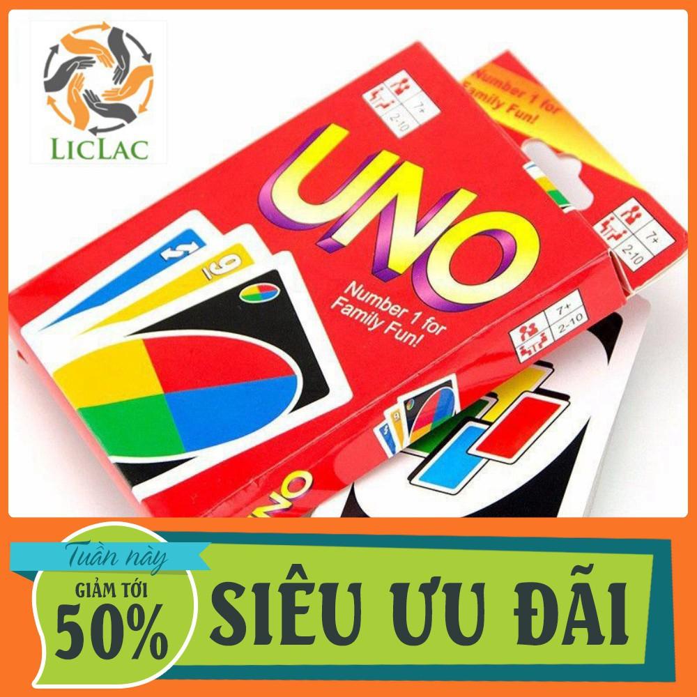 HCM- Bài UNO cơ bản loại TỐT giấy cứng ( 108 lá ) - LICLAC