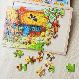 Đồ chơi xếp ghép hình tranh ghép 60 miếng bằng gỗ