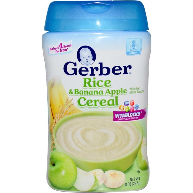 Bột ăn dặm Gerber (gạo chuối táo)