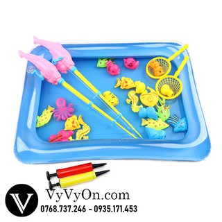 Bể bơi câu cá cho bé