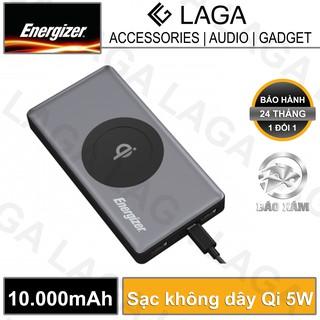 Pin sạc dự phòng Energizer 10000mAh tích hợp sạc không dây Qi 5W - QE10000 - Hãng phân phối chính thức