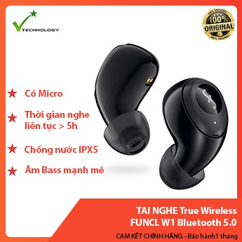 Tai Nghe True Wireless FUNCL W1 Bluetooth 5.0