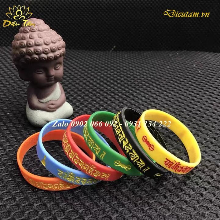 Vòng tay silicon mật tông giải thoát mật tông thông qua sự nhìn thấy - Liên Hoa Sinh - Bất Động Phật