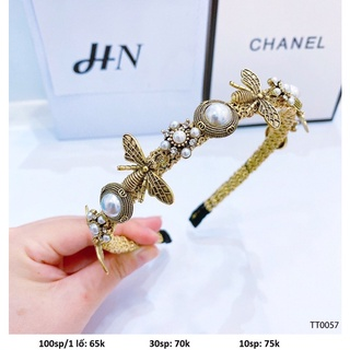 Băng đô đính kim loại phong cách thời trang Hàn Quốc thumbnail