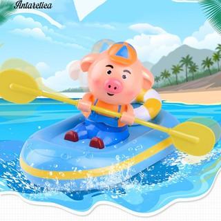 ♥♥♥ Pig Pair-Oars Row Float Bath Swimm Bath Toy