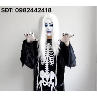 Bộ trang phục quỷ dạ xoa tóc trắng (Gồm trang phục + găng tay + mặt nạ)