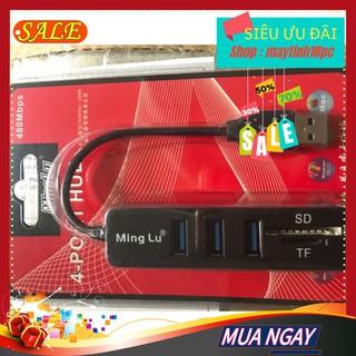 Hup usb minglu 3 port có khe đọc thẻ Bộ chia usb thumbnail