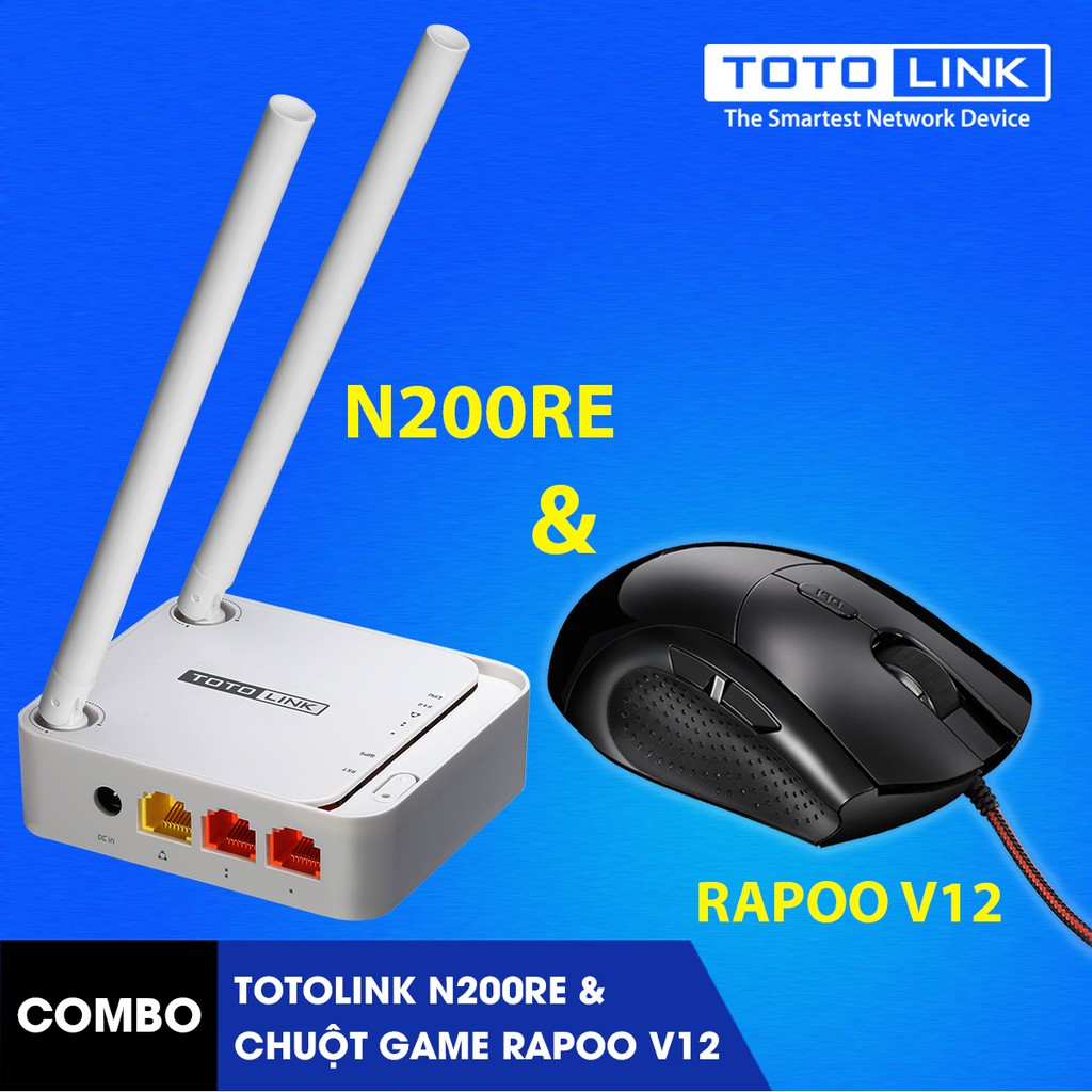 [FREE SHIP] Bộ phát WiFi Router TOTOLINK N200RE-v3 kèm chuột Game Rapoo V12 - 3043846 , 396671622 , 322_396671622 , 379000 , FREE-SHIP-Bo-phat-WiFi-Router-TOTOLINK-N200RE-v3-kem-chuot-Game-Rapoo-V12-322_396671622 , shopee.vn , [FREE SHIP] Bộ phát WiFi Router TOTOLINK N200RE-v3 kèm chuột Game Rapoo V12