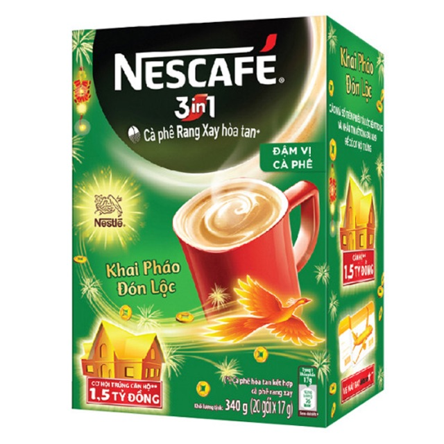 Cà phê sữa Nescafe đậm vị 3 trong 1 hộp 340gram ( 20 gói) - 3240805 , 1135025074 , 322_1135025074 , 45000 , Ca-phe-sua-Nescafe-dam-vi-3-trong-1-hop-340gram-20-goi-322_1135025074 , shopee.vn , Cà phê sữa Nescafe đậm vị 3 trong 1 hộp 340gram ( 20 gói)