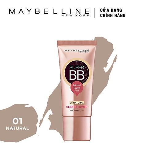 Kem Trang Điểm Siêu Mịn Bảo Vệ Maybelline Super BB Super Cover SPF50/PA++++ 30ml