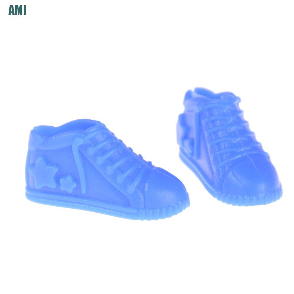 [D] 4 pairs Doll Shoes Fashion Casual Sports Shoes for Barbie Doll with Different Colors High Quality Baby Toy (ghg)