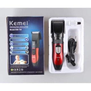 Tông đơ cắt tóc gia đình Kemei 730 chính hãng , tăng đơ người lớn - trẻ em , máy hớt tóc chấn viền cho bé sạc pin thumbnail