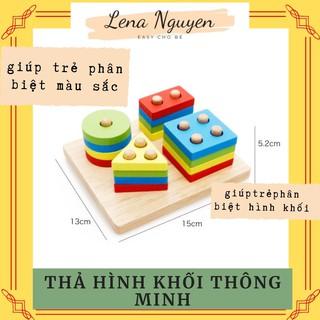 Đồ chơi gỗ 💖𝑭𝑹𝑬𝑬𝑺𝑯𝑰𝑷💖Bảng phân loại Hình khối, Màu sắc – Giáo Cụ Montessori Giáo Cụ Montessori