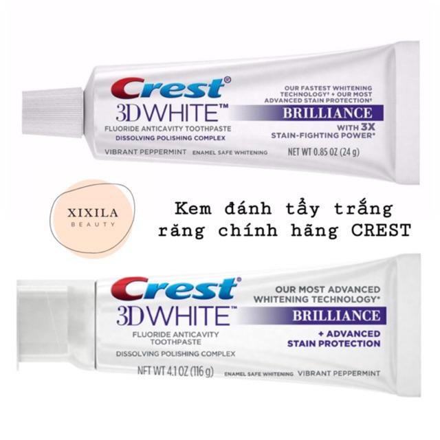 Kem đánh răng làm trắng Crest 3D White Brilliance 116g