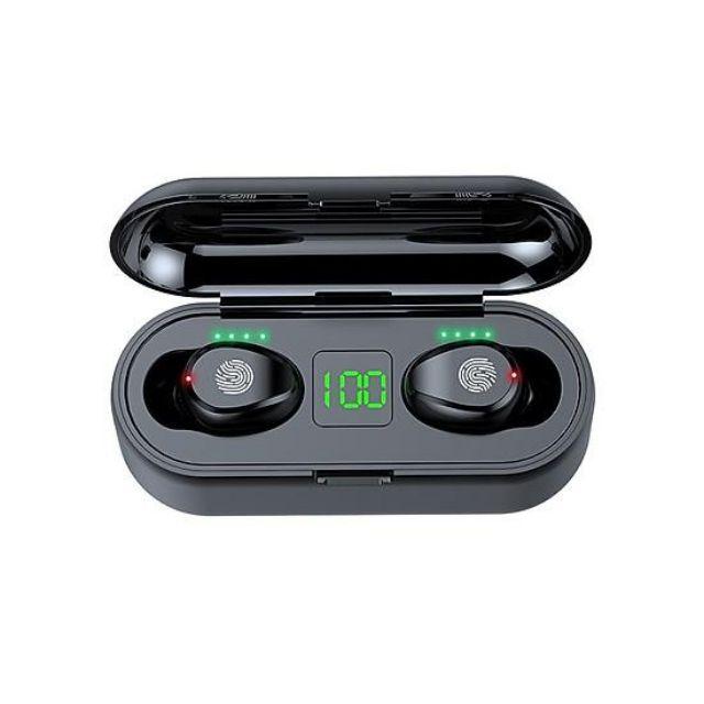 Tai nghe true wireless AMOI F9 PRO MAX Ver (5,6,7) | Cảm Ứng Bản Quốc tế | Bluetooth 5.0 | Pin 280 giờ làm sạc dự phòng