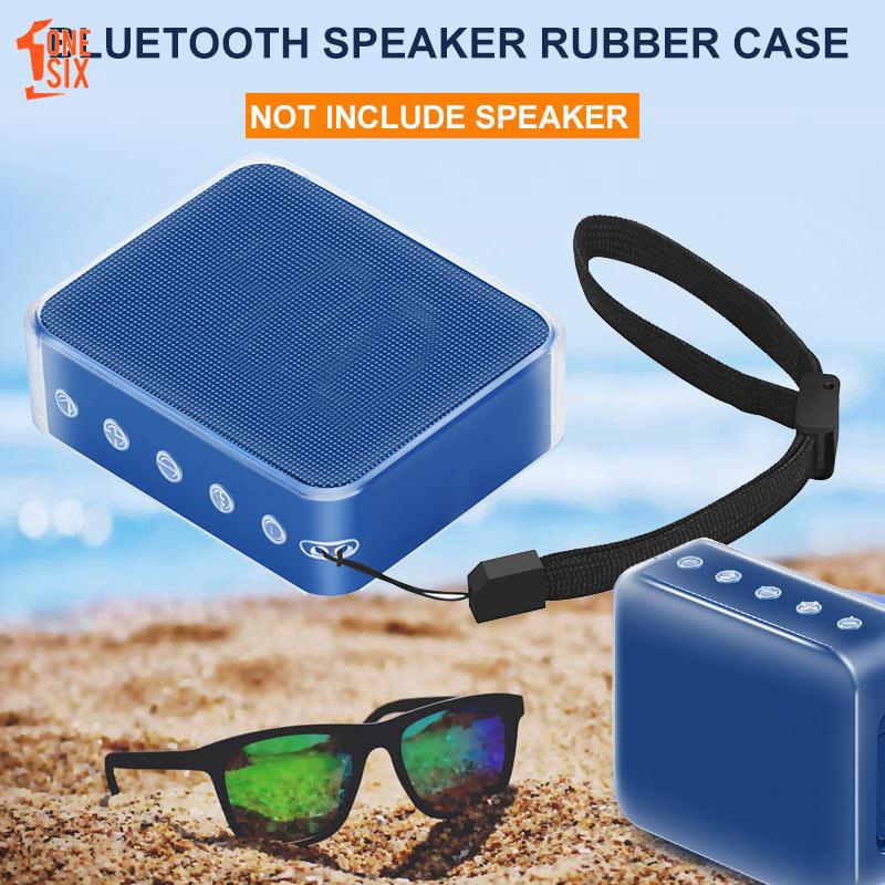 ONE❤ Speaker Carrying Bag Speaker Carry Bags Outdoor Hiking Speaker Carry Case Silica Gel JBL GO 2