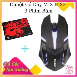 ( Tặng bàn di chuột ) Chuột Game có dây MIXIE X3- 3 phím bấm -Hàng chính hãng-Bảo hành 12 tháng-Cam kết chất lượng cao thumbnail