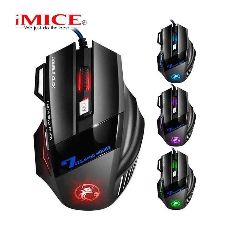 Mouse Gaming IMICE X7 Dây dù - Led 7 màu