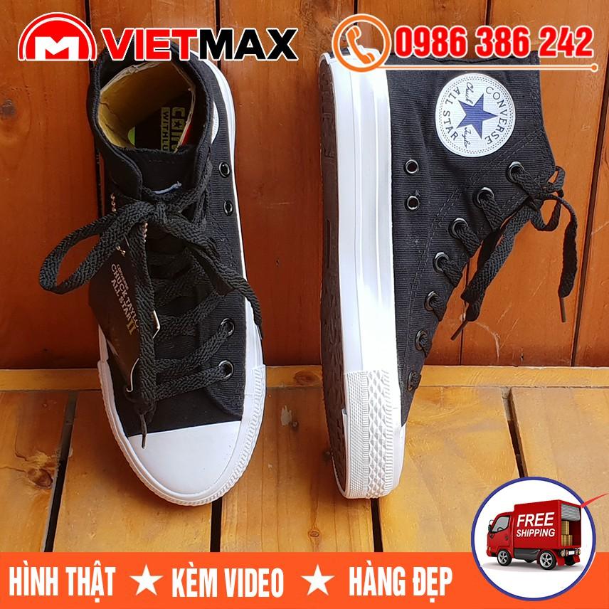 ⚡[FREE SHIP] Giày Converse Chuck 2 (II) Đen Trắng Cổ Cao Nam Nữ