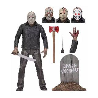 Friday the 13th 1980 edition 5 generation Jason Deluxe Edition Black Friday boxed hand-made model 18CM
