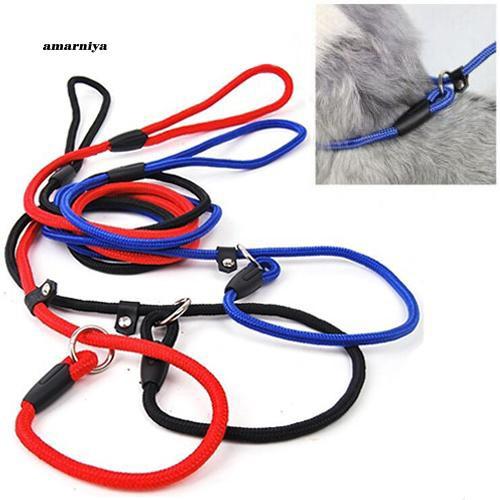 AMA♥Pet Dog Nylon Rope Training Leash Slip Lead Strap Adjustable Traction Collar