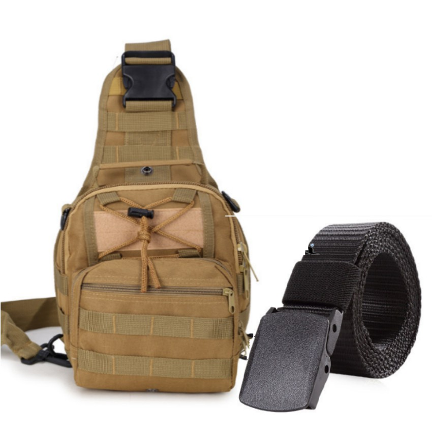 Thắt lưng dù chiến thuật và túi đeo ngực đi phượt phong cách Quân đội Mỹ + Tặng 1 móc khóa da cao cấ - 3158950 , 789059765 , 322_789059765 , 612000 , That-lung-du-chien-thuat-va-tui-deo-nguc-di-phuot-phong-cach-Quan-doi-My-Tang-1-moc-khoa-da-cao-ca-322_789059765 , shopee.vn , Thắt lưng dù chiến thuật và túi đeo ngực đi phượt phong cách Quân đội Mỹ + T