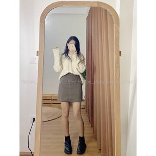 Chân váy dạ lì dáng chữ A (có ảnh thật, clip cận chất)