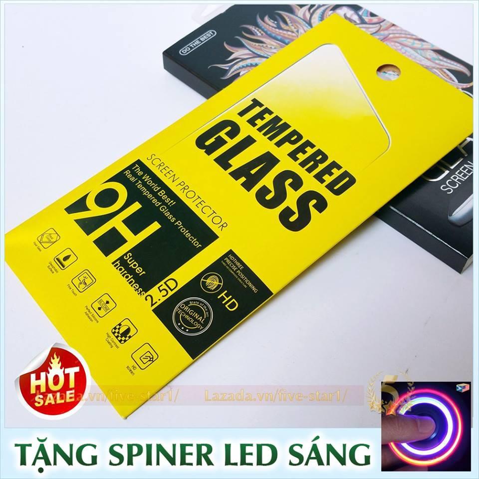 Kính dán cường lực cao cấp cho iPhone : Phủ Nano Khác Biệt + Tặng con quay LED