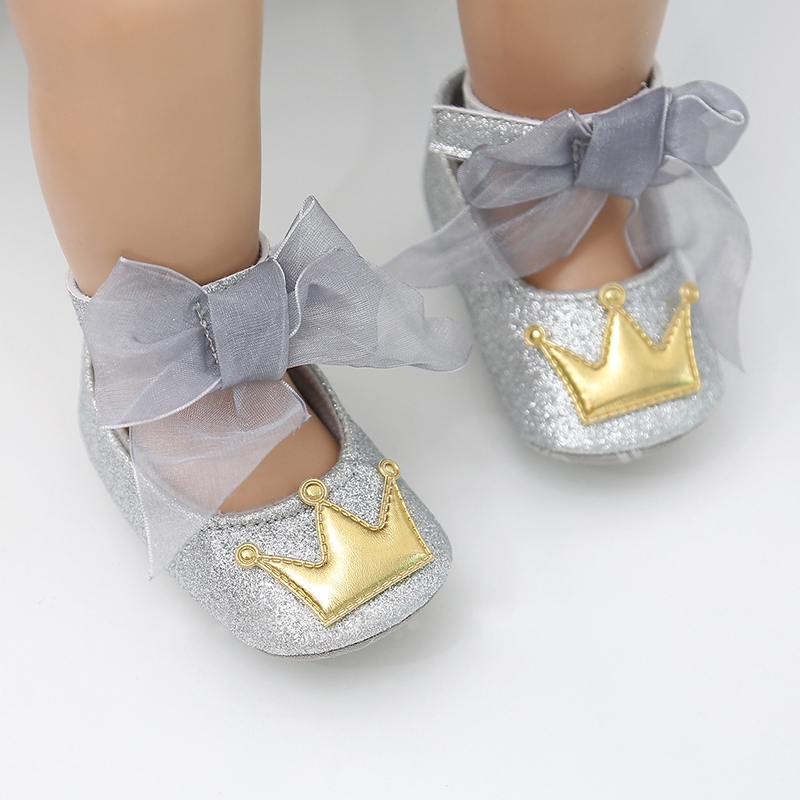 Giày Búp Bê Đính Nơ Xinh Xắn Cho Bé Gái