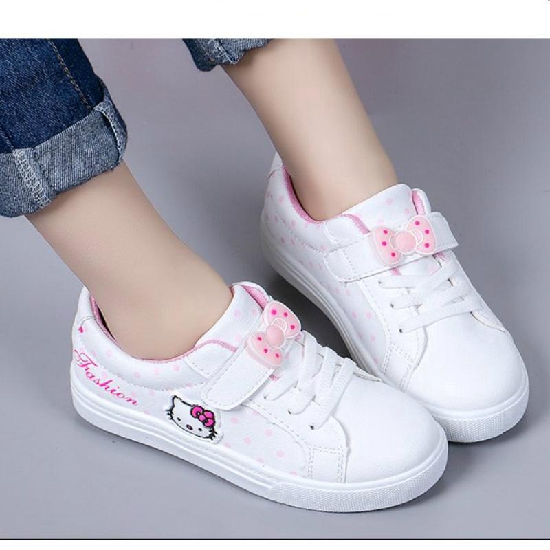 Giày thể thao họa tiết Hello Kitty xinh xắn cho bé gái