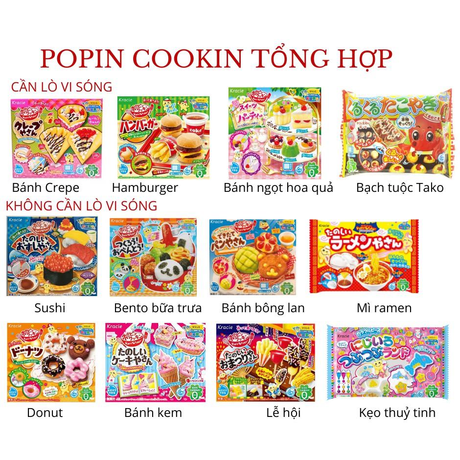 Tổng hợp Popin Cookin Đồ chơi nấu ăn Nhật Bản – Lễ hội, Sushi, Mỳ Ramen, Hamburger, Donut, bánh ngọt, làm kẹo, kem, Shin