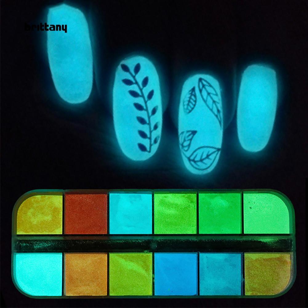 Bột kim tuyến trang trí móng dạ quang DIY