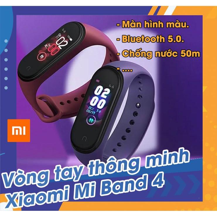 Vòng đeo tay thông minh theo dõi sức khỏe Xiaomi Mi Band 4