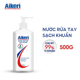 [Mã AIKE20149 giảm 20K đơn 149K] Aiken Nước rửa tay Sạch khuẩn 500g thumbnail