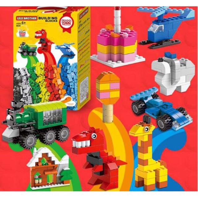 BỘ XÉP HÌNH LEGO 1000 chi tiết cho bé