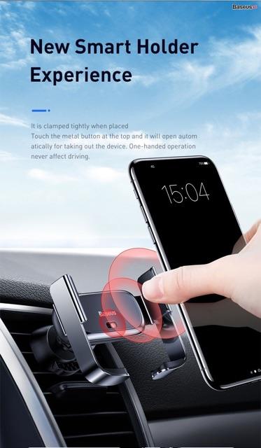 Bộ đế giữ điện thoại dùng trên xe hơi Baseus Mini Electric Car Holder