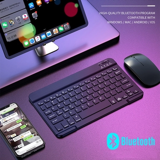 Bàn Phím Bluetooth Không Dây Cho Windows Mac Android Ios Imac Ipad Laptop thumbnail