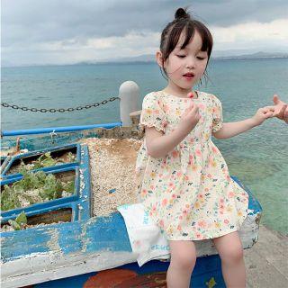 Váy đầm thô hoa nhí phong cách vintage/ Váy công chúa cực xinh cho bé gái
