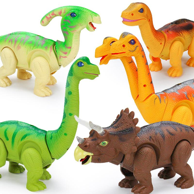 Electric dinosaur toys lighting electric egg laying toys