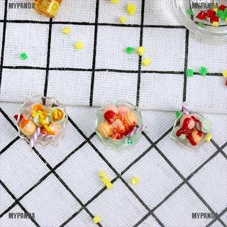 MYPANDA Dollhouse toy model miniature food and mini smoothie macarone dessert