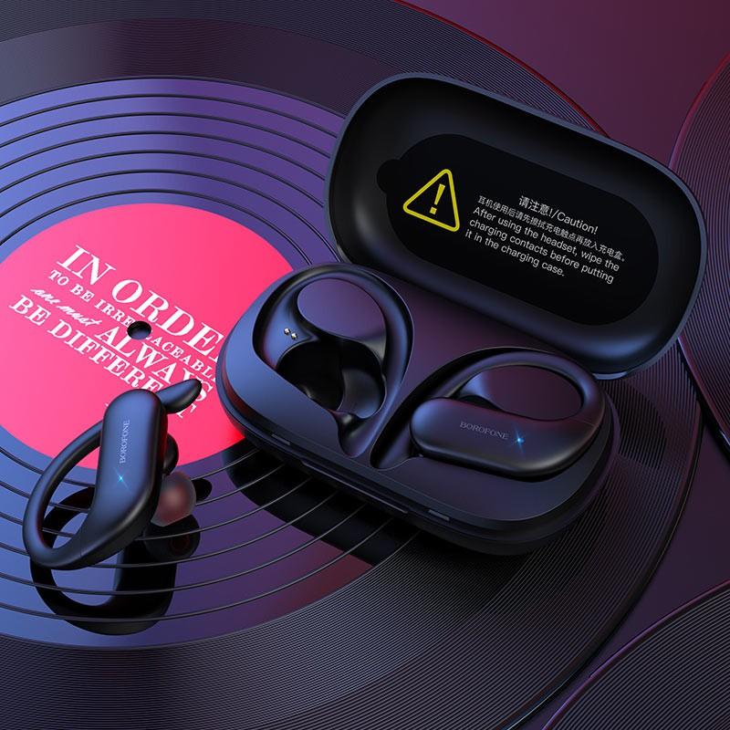 Tai nghe Bluetooth TWS Borofone BE33 Rhyme BT V5.0 (Đen) - Hàng chính hãng