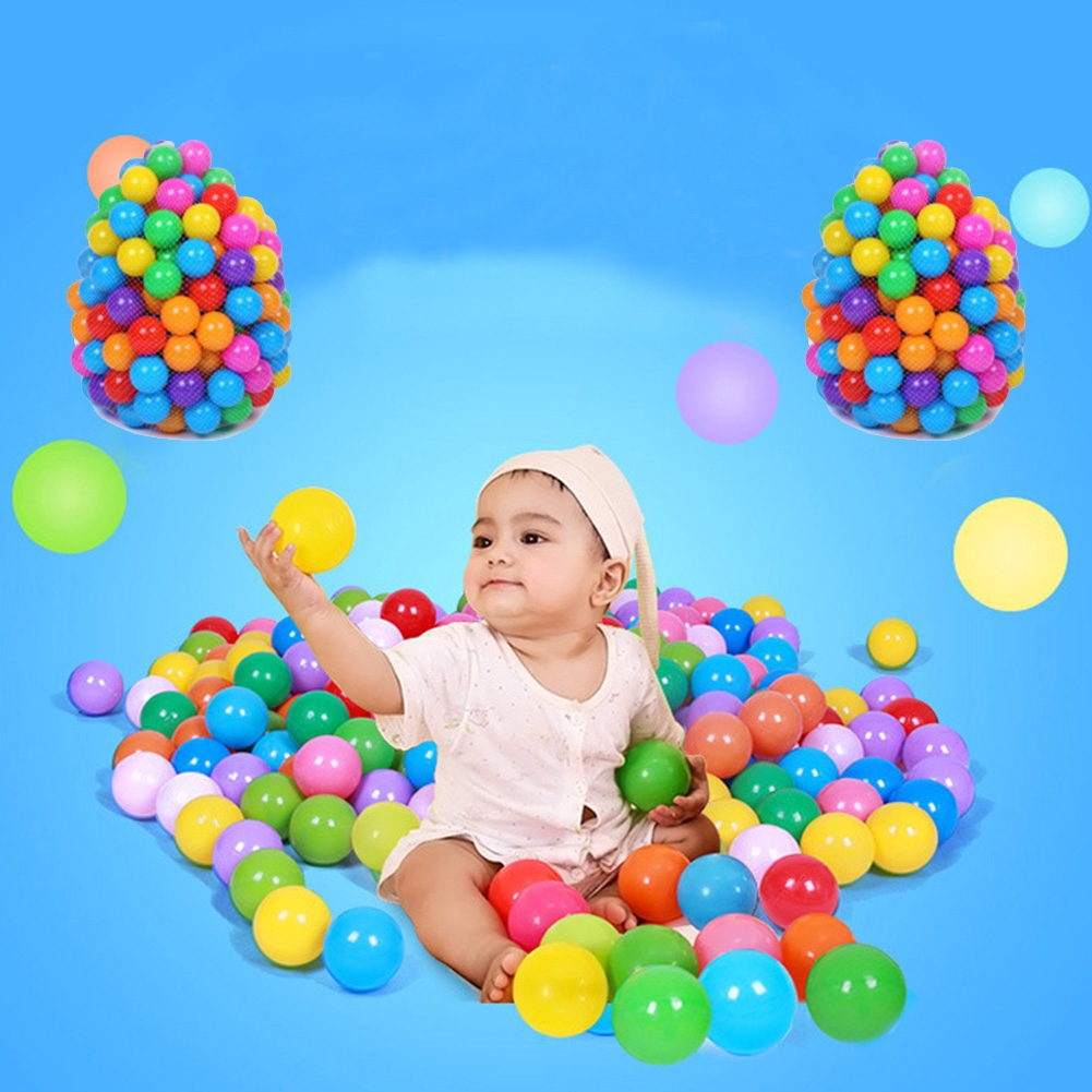 100 pieces stress ball eco-friendly colorful soft plastic water pool baby funny toys outdoor
